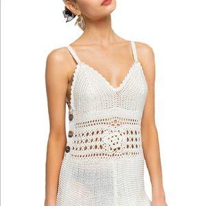 @MelisseFashion Boho Style Crochet Shorts Romper